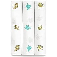Wickeltuch aus Musselin, für Baby Mädchen und Jungen–3Pack