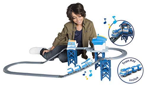 ROBOT TRAINS - Circuit Base De Kay 124 cm + train Kay et 3 wagons inclus