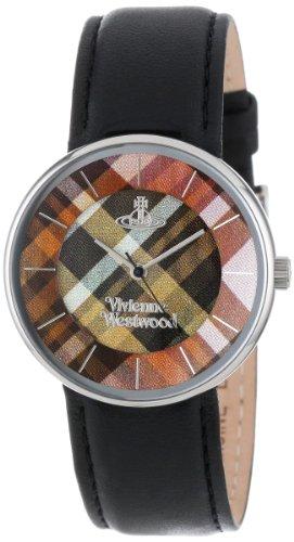 Vivienne Westwood - VV020BK - Montre Mixte - Quartz Analogique - Bracelet Cuir Noir