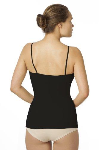 Sleex Figurformendes Damen Unterhemd (mit feinen Traegern) Schwarz (Black)