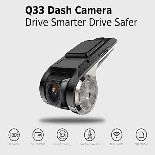 BEESCLOVER Q33 Mini-Auto-DVR-Kamera, Full HD, 1080p, automatischer Videorekorder, G-Sensor, 150 Grad, Schwarz