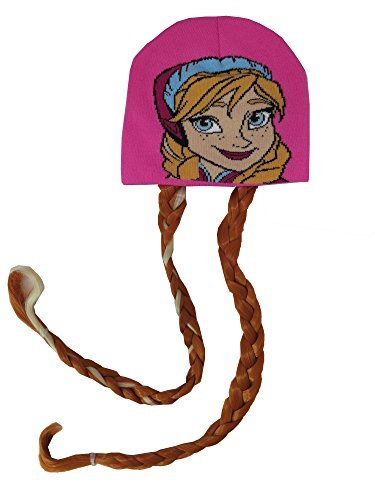 disney-girls-frozen-anna-hat-with-braided-hair-red-and-blonde-4012-by-disney