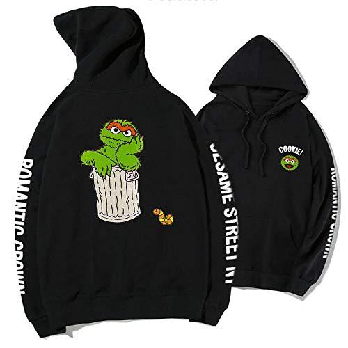 Hoodie Sesame Street KAWS Co-Branding-Pullover Weiblich Loose Plus Velvet Jacket Lovers 12-M 12m Sesame Street