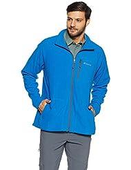 Columbia AM3039 Fleece Fast Trek II Full Zip - Forro Polar, Hombre, Azul (Super Blue/Graphite), talla del fabricante: XL
