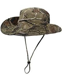 WANYING Camuflaje Sombrero para Hombre Mujer Sombrero de Pescador  Protectora del Sol para al Aire Libre da7289271cb