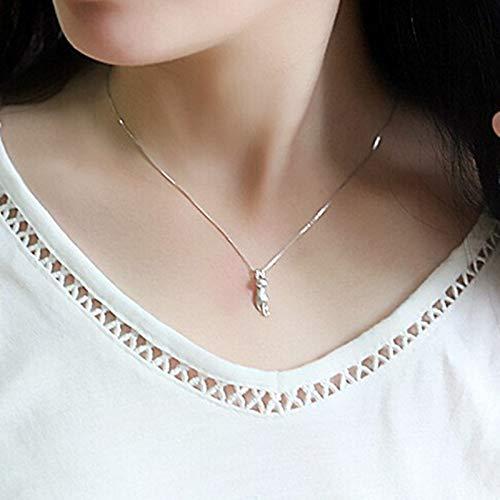 uck Silber Anhänger Damen Halskette Einfache Accessoires Großhandel Hohe Qualität ()