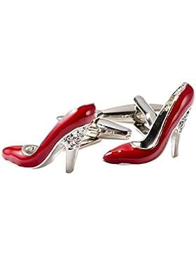 Covink® Mädchen Damen Frauen High Heel Schuh Silber Manschettenknöpfe Glitzer Ausschnitt High Heel Festzug Schuhe