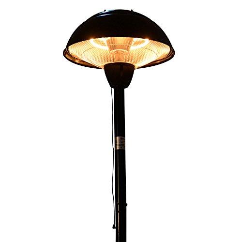 Outsunny® Elektrischer Terrassenstrahler Heizstrahler Infrarotstrahler schwarz/silber 1500W/2000W Decken/Wandmontage/Standheizstrahler (Modell3); - 4