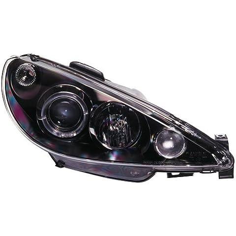 AutoStyle SK3300-A2B6S16 - Faros delanteros para faros delanteros para Peugeot 206 02 y Gti 99 de Plus anillos de luz de posición, color