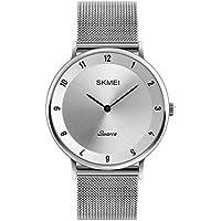 ZYCZ Literarisch Dünne Quarz Männer Uhren Zink-Legierung Geschäft Gelegenheits-Uhren Männer Billige Uhren,Silverblackneedle