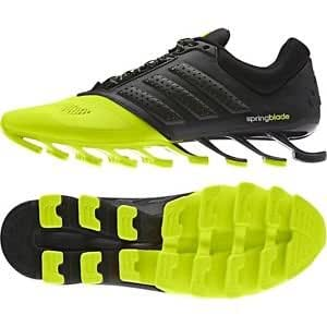 25cb1f8e786a ... Men s adidas Springblade Drive Running Shoes neon green and Black-10uk