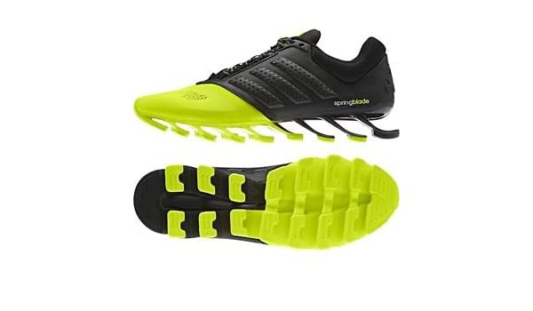 9089fb0a6aa28 Men's adidas Springblade Drive Running Shoes neon green and Black ...