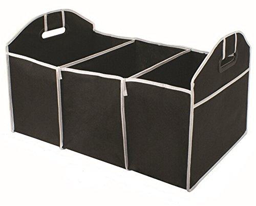 Dell'automobile di immagazzinaggio Box organizzatori Tronco 3-Compartimento pieghevole Bag