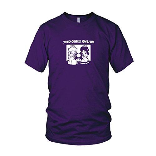 Two Girls, One-Up - Herren T-Shirt, Größe: XL, Farbe: lila