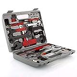 CR#ST Fahrrad Werkzeugkoffer Werkzeug Set, Fahrradwerkzeug für Fahrrad Montagearbeiten und Reparaturen, Fahrrad Werkzeugset mit Tragekoffer und Multitool