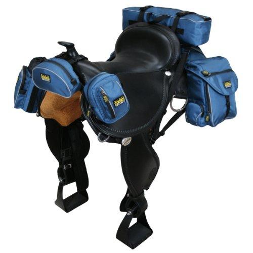 trailMAX 500 Komplettset, Satteltasche Western Packtasche Packsystem blue