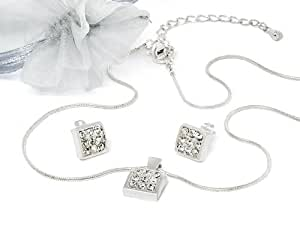 Bijoux set 'Eternal Love' avec Cristaux originaux de Swarovski Elements (Crystal, argenter)