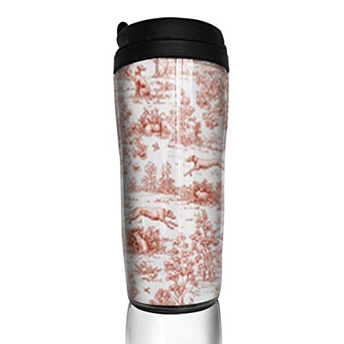 Travel Coffee Mug Gray and Burgundy 12 Oz Spill Proof Flip Lid Water Bottle Environmental Protection Material ABS