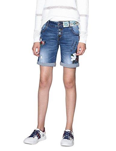 Desigual Damen Shorts Denim_MAGALIE, Blau (Denim Medium Dark 5161), W25