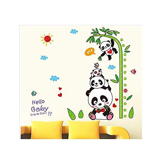 3D Wandaufkleber Aufkleber Wandtattoo Kinder Wandaufkleber Cartoon Kinderzimmer Kindergarten Klassenzimmer Schmücken Dress Up Tier Panda Bambus Wanddekoration (Klassenzimmer Schmücken Das)