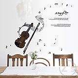 Aufkleber Violine Wandaufkleber Musikanlage Wohnkultur Musik Klebstoff Für Musiker Minnesänger Musikinstrumente