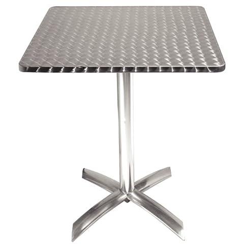 Bolero Square Flip-Top Table Stainless Steel 720X600X600mm Restaurant Bar