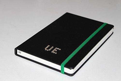 Echt-Leder Notizbuch A5 personalisierbar mit Kristallsteinen