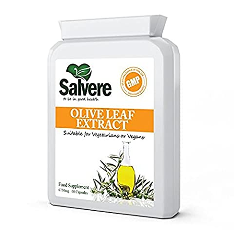 Olive Leaf Extract 20% Active Oleuropein, Helps Lower Cholesterol &