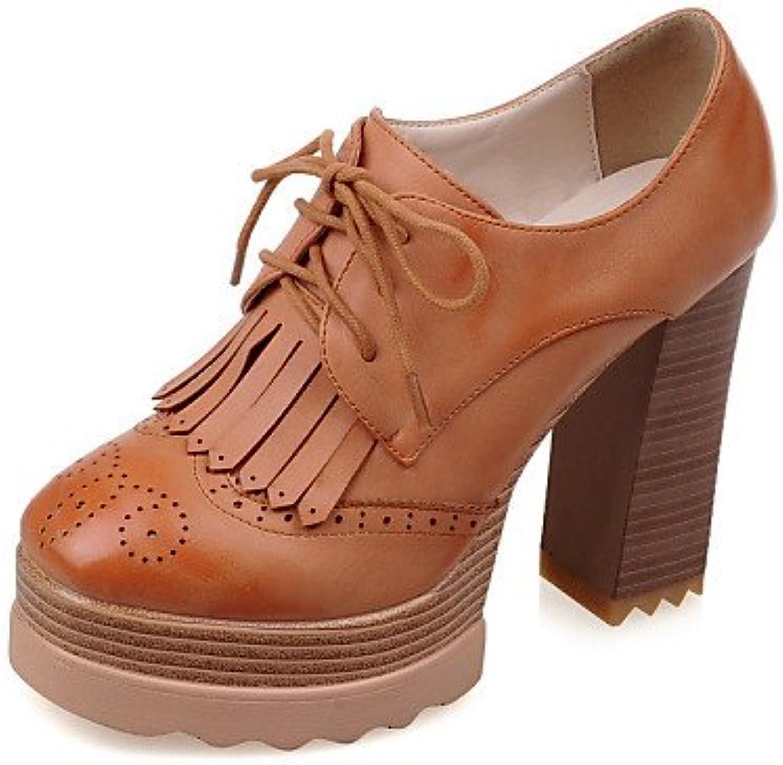 ZQ hug Zapatos de mujer-Tacón Robusto-Tacones / Plataforma / Punta Redonda-Tacones-Vestido / Casual / Fiesta y...