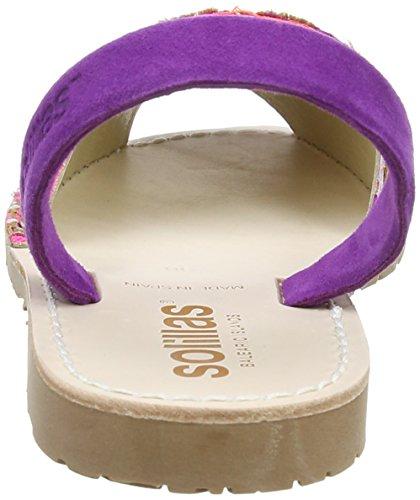 Solillas Punta, Scarpe Col Tacco con Cinturino a T Donna Viola (Purple)