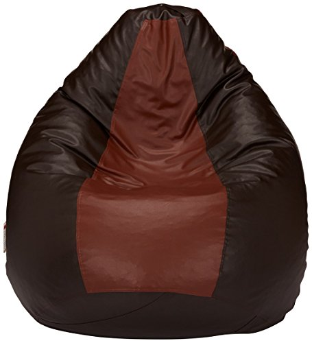 Amazon Brand - Solimo XXXL Bean Bag Cover Without Beans (Brown and Tan)
