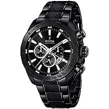 Festina f16889/1 – Reloj Para hombre , Movimiento de cuarzo , cronógrafo ,correa de acero inoxidable, negro