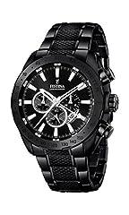 Idea Regalo - Festina F16889/1 - Orologio da uomo al quarzo con quadrante cronografo nero e cinturino in acciaio inossidabile, colore: nero