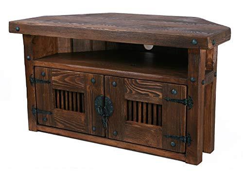 TV Ecktisch, HiFi Eckschrank, Rustikal Unikat, Massivholz, Vintage,Schrank Tisch Höhe: 50 cm Breite: 90 cm Tiefe: 45 cm