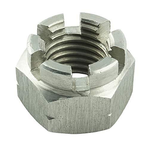 Eisenwaren2000 | M20 Kronenmuttern (5 Stück) - Sicherungsmutter DIN 935 - ISO 7035 - Edelstahl A2 V2A - rostfrei