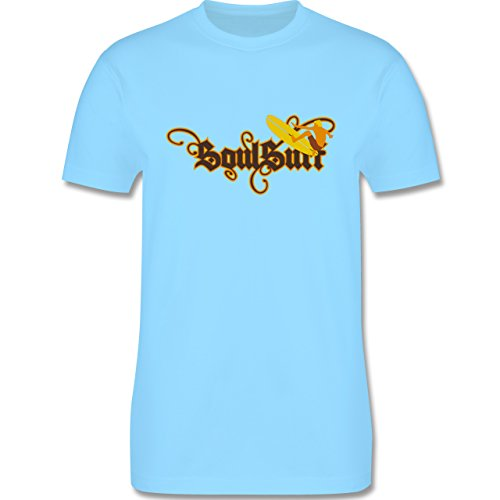 Wassersport - Surfer - Herren Premium T-Shirt Hellblau