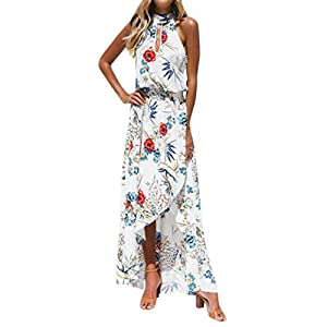 530685097d823 Damen sommer Partykleid Rosennie Frauen Casual Mode lose Boho Floral lange  kleid ärmellose Tunik Elegant O
