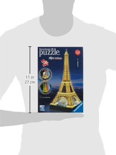 Ravensburger-125791-Eiffelturm-bei-Nacht-216-Teile-Puzzle-3D-Puzzle-Bauwerk-Night-Edition