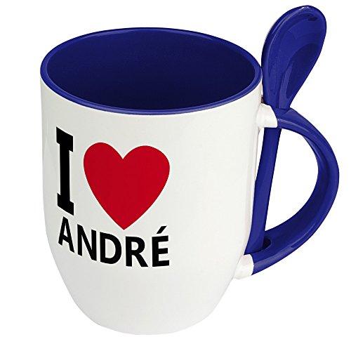 Namenstasse André - Löffel-Tasse mit Namens-Motiv
