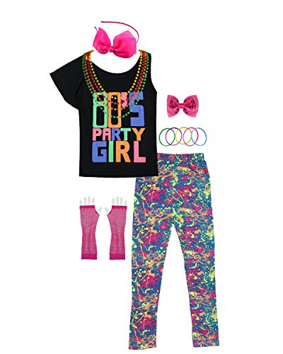 Party Girl Hot Pink Perücke - 80er Jahre Party Girl Kind T-Shirt