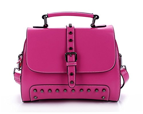 Xinmaoyuan Borse donna borsette in cuoio Ladies borsette in cuoio Ladies grande borsa tracolla Borsa Messenger Rose Red