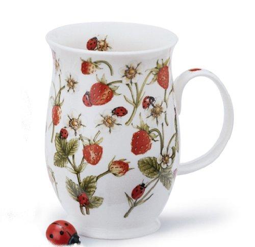 1 x Jane Fern Strawberries and ladybirds design from Dovedale range - Dunoon Suffolk Fine Bone China mug -