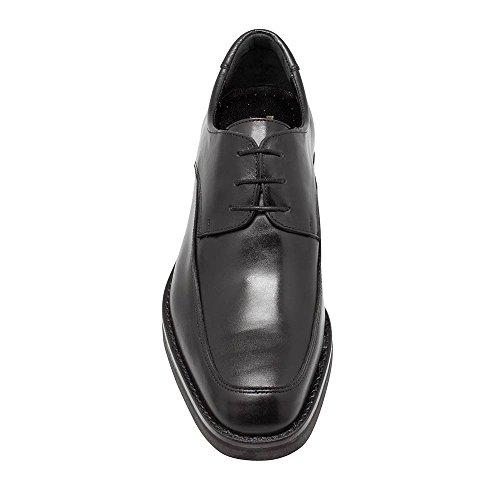 Scarpe con Rialzo da Uomo Che Aumentano l'Altezza Fino a 7 cm. Fabbricate in Pelle. Modello Roma Nero