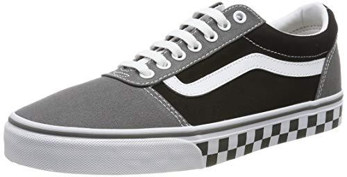 Vans Herren Ward Canvas' Sneaker, Mehrfarbig ((Checker Tape) Pewter/Black V0w), 44.5 EU