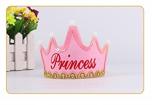 Fengh Prinzessin King Party Beleuchtungsmütze Stirnband Pink