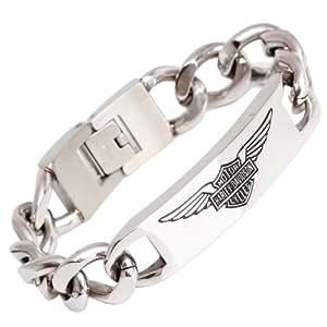 "Harley Davidson lourde cha""ne d'acier inoxydable Bracelet Link"