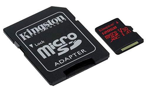Kingston sdcr/128gb microsd canvas react, nero