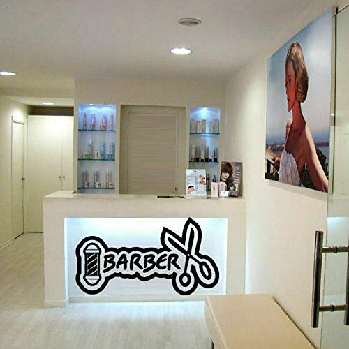 Wandaufkleber Kinderzimmer Wandtattoo Wohnzimmer Friseur Zeichen Aufkleber Beauty Salon Vinyl Aufkleber Wall Decal Friseur Salon Beauty Friseur Schere Kamm Schild - Laptop Baum Decal