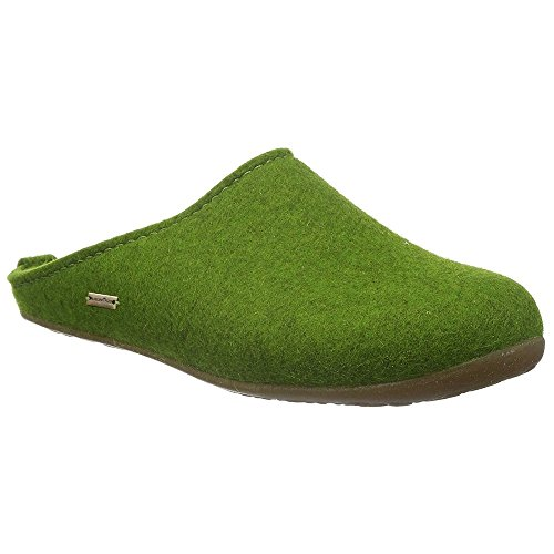 Haflinger Unisex-Erwachsene Everest Fundus Pantoffeln, Grün (Grasgrün 36), 42 EU