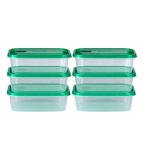 iHouse Rechteckige Kühlschrank Aufbewahrungsbox X6, Mikrowelle Heizung Lunchbox, Kunststoff transparent, Kinder, Erwachsene Lebensmittelbehälter, ohne BPA -